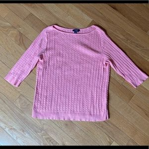 Chaps Cable Knit 3/4 sleeve Sweater size 3X Plus